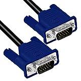 Ociodual Cable Alargador 15 Pin D-Sub Dsub Svga Vga Doble Macho M-M Para Pantalla Ordenador De Mesa Portátil Monitor Proyector