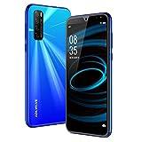 Moviles Libres Baratos 4G,android 9.0 3Gb Ram 32Gb Rom Telefono Moviles 6.3' Water-Drop Screen Fhd, Smartphone Libre Dual Sim 4600Mah Cámara 8Mp 5Mp Face Id Móviles Y Smartphone Libres (Negro) (Azul)