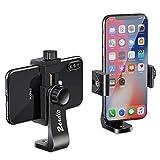 Zeadio Soporte Para Smartphone, Con Función De Rotación De 360 Grados Y Monopod Selfie Monopod Trípode Estabilizador Adaptador De Montura Tornillo Agujero Para Iphone Samsung Huawei Y Más Teléfonos