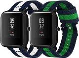 Simpleas Compatible Con Galaxy Watch 42Mm / Watch 3 41Mm / Active Correa De Reloj, Pulsera Deportivo De Reloj De Nylon, Con Cierre De Clip, Respirable Y Reemplazable (20Mm, 2Pcs D)