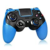 Proslife Wireless Controller Para Ps4 / Switch, Pro Wireless Gaming Gamepads Joysticks Para Playstation 4 Pro / Slim Con Doble Vibración-Azul