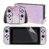 Extremerate Juego Completo De Pegatinas Para Nintendo Switch/ns Con 2 Protectores De Pantalla (Consola Y Joy-Con Y Dock Y Agarre)