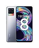 Realme 8 Smartphone Libre, Cámara Cuádruple Con Ia De 64Mp, Pantalla Completa Amoled Superior De 6,4', Carga Dart De 30W, Batería Masiva De 5000 Mah, Dual Sim, Nfc, 6+128Gb, Cyber Silver