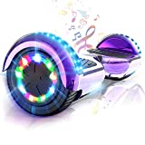 Colorway Hoverboard Patinete Eléctrico Auto Equilibrio Hover Scooter Board 6.5 Pulgadas Con Fuerte Dual Motor Y Led E-Skateboard … (Violeta)
