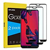 Sparin Compatible With Huawei P20 Pro Screen Protector, No Lifting Edge, No Rainbow,  Full Coverage, Tempered Glass Screen Protector, Paquete De 2