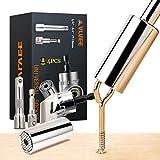 Vlvee Universal Llave De Vaso 7-19 Mm Multifuncional Herramientas De Mano Con Taladro Adaptador (4Pcs)