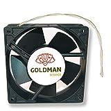 Ventilador Fan Axial Para Cassette De Chimeneas Insertable Alta Temperatura De Aspas Metálicas Universal. 120X120X38 Mm.