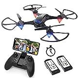 Eachine E38 Drones Con Cámara Para Adultos Led Tiempo De Vuelo Largo Wifi Fpv 720P 120°Fov Hd Video Selfie Drone Para Principiantes Drone Para Interiores Exteriores (2 Baterías)