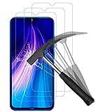 Anewsir [3 Pack] Protector De Pantalla Para Xiaomi Redmi Note 8,cristal Templado Xiaomi Redmi Note 8 [9H Dureza] [Alta Definicion]