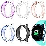 Afunta - 5 Fundas Para Reloj Galaxy Active De 40 Mm, Carcasa Protectora Para Galaxy Watch Active Smartwatch, Color Morado, Rosa, Blanco, Negro Y Azul