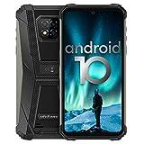 Móvil Resistente 4G Android 10, Ulefone Armor 8Pro Helio P60 Octa-Core Telefono Movil Antigolpes Ip68, 6Gb +128Gb, Cámara Trasera Triple De 16Mp, Hd De 6,1 Pulgadas Smartphone, Batería 5580 Mah, Tipo C [Clase De Eficiencia Energética A+++] (Dark Black)
