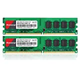 Kuesuny 4Gb Kit (2Gbx2) Ddr2 667 Dimm Ram, Pc2-5300/pc2-5300U Cl5 240-Pin Non-Ecc Unbuffered Desktop Memory Modules