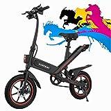Bicicleta Eléctrica Adultos Motor De 350W,iluminación Led,batería De Alta Capacidad De 10Ah,neumáticos De 14 Pulgadas,3 Modos De Trabajo,amortiguador Central,larga Distancia De 60 Km