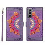 Topofu Case For Samsung Galaxy S21+, Premium Pu/tpu Leather Flip Wallet Case, [Card Slot] [Magnetic Closure] [Support Kickstand] Book Style Protective Cover (Purple)