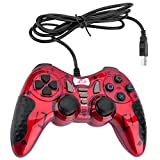 Mando Gaming Gamepad Rii Gp500 Con Cable Para Pc Windows 98 Xp 7 8 10 Juegos Playstation 3 Steam. Con Joystick Dual Y Vibración Asimétrica. Usb. ( Botones Turb 12 Fire 4 Axiales)