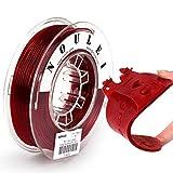Noulei Filamento Flexible De Tpu Para Impresora 3D, 1,75 Mm, Bobina De 1 Kg (Rojo Intenso)