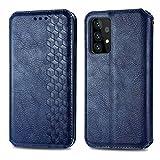 Topofu Funda Samsung Galaxy A52 5G, Carcasa Flip Leather Wallet Case, Funda De Cuero Pu Premium Carcasa Para Samsung Galaxy A52 5G (Azul)
