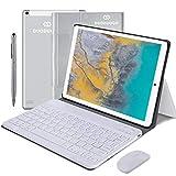 4G Tablets 10.1 Pulgadas, 2 In 1 Tablet Con Teclado 4Gb Ram+ 64Gb Rom, Android 9.0 Tablet Pc Quad-Core 8Mp, 8000Mah Moviles Buenos O Tablets Puede Llamar Apoyo Dual Sim Wifi/bluetooth/otg (Plata)