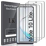 Lk Compatible Con Samsung Galaxy Note 10 Lite Protector De Pantalla,3 Pack,9H Dureza Cristal Templado, Equipado Con Marco De Posicionamiento,vidrio Templado Screen Protector