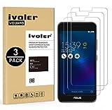 Ivoler [3 Unidades] Protector De Pantalla Para Asus Zenfone 3 Max Zc520Tl 5.2 Pulgadas, Cristal Vidrio Templado Premium