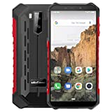 Ulefone Armor X3 Móvil Libre, Resistente Ip68 Impermeable Smartphone De 5.5' (18:9) Hd+ Android 9 Dual Sim, 2Gb+32Gb, Doble Cámara De 8Mp + 2Mp Y 5Mp,5000Mah Batería Face Id+Gps/wi-Fi/bluetooth (Rojo)