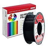 Filamento Pla Para Impresora 3D De 1,75 Mm, Filamento De Impresión 3D Pla Para Impresora 3D Y Bolígrafo 3D, Precisión Dimensional +/- 0,02 Mm, 1 Kg 1 Bobina(Negro)
