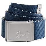 Under Armour Ua Men's Webbing 2.0 Belt, Cinturón Para Hombre, Accesorio Para Hombre Hombre, Azul (Academy/city Khaki/none(408)), Taglia Unica