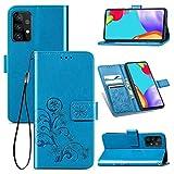 Topofu Funda Samsung Galaxy A52 5G, Suave Pu Cuero Carcasa Con Flip Case Cover/cierre Magnético/tapa Soporte Plegable/tpu Parachoques Funda Para Samsung Galaxy A52 5G (Azul)