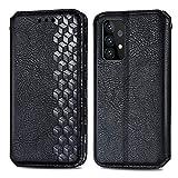 Topofu Funda Samsung Galaxy A52 5G, Carcasa Flip Leather Wallet Case, Funda De Cuero Pu Premium Carcasa Para Samsung Galaxy A52 5G (Negro)