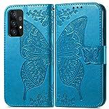 Topofu Funda Samsung Galaxy A72 5G, Suave Pu Cuero Carcasa Con Flip Case Cover, Cierre Magnético, Tapa Soporte Plegable, Tpu Parachoques Funda Para Samsung Galaxy A72 5G (Azul)